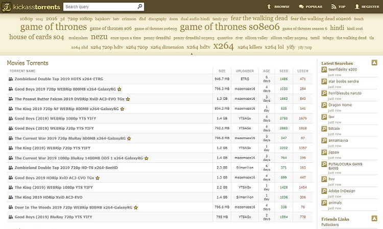 KickAss Torrents - #3 Best Torrent Site