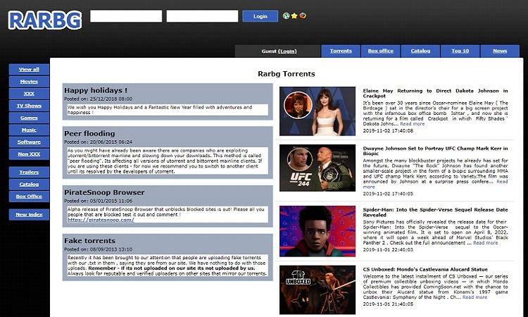 RARBG - #2 Best Torrent Site