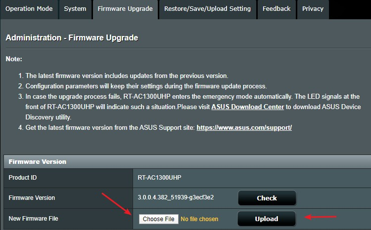 Asus Firmware Update