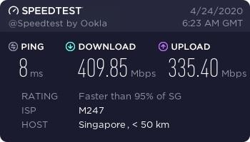 NordLynx Speed Test